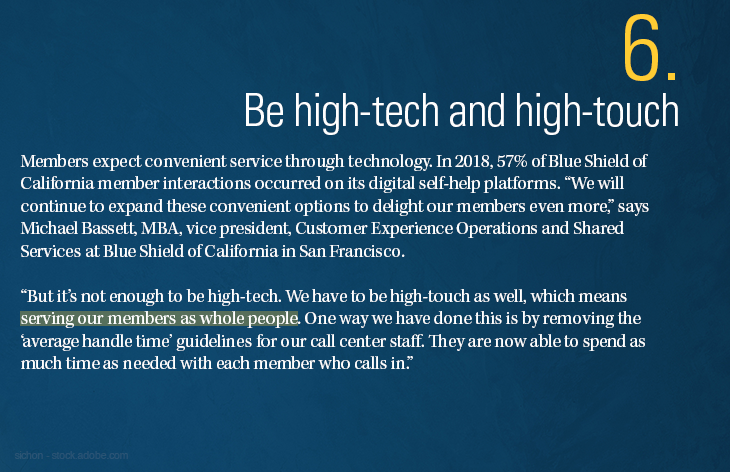 Be high-tech and high-touch