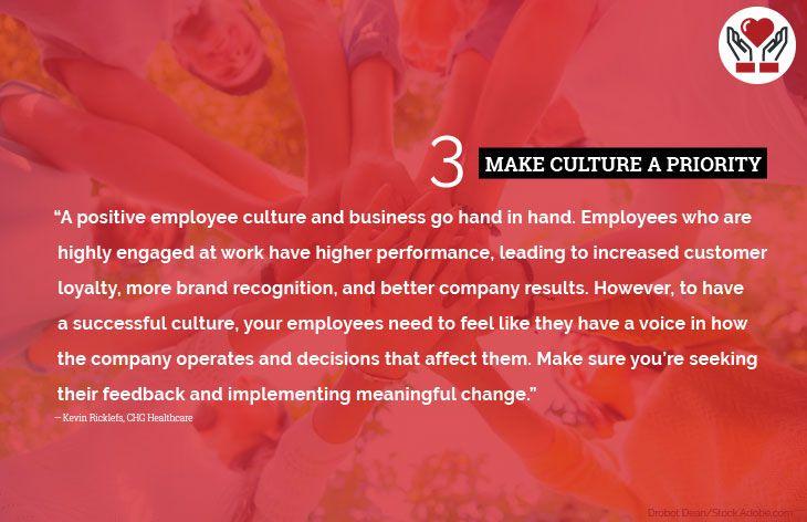 3. Make culture a priority