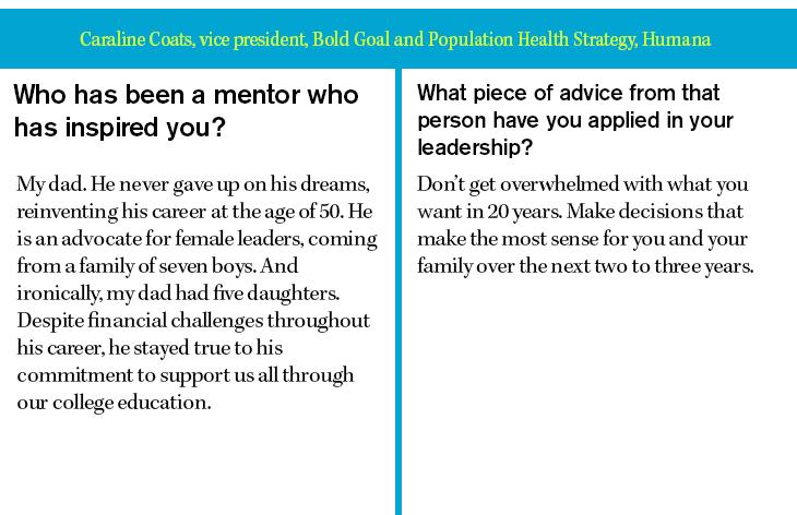 Caraline Coats, vice president, Bold Goal and Population Health Strategy, Humana