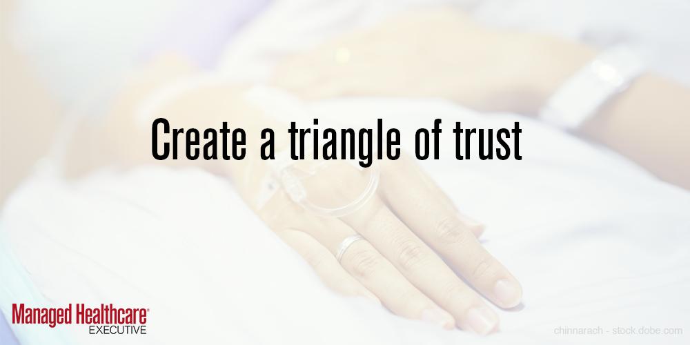 Create a triangle of trust