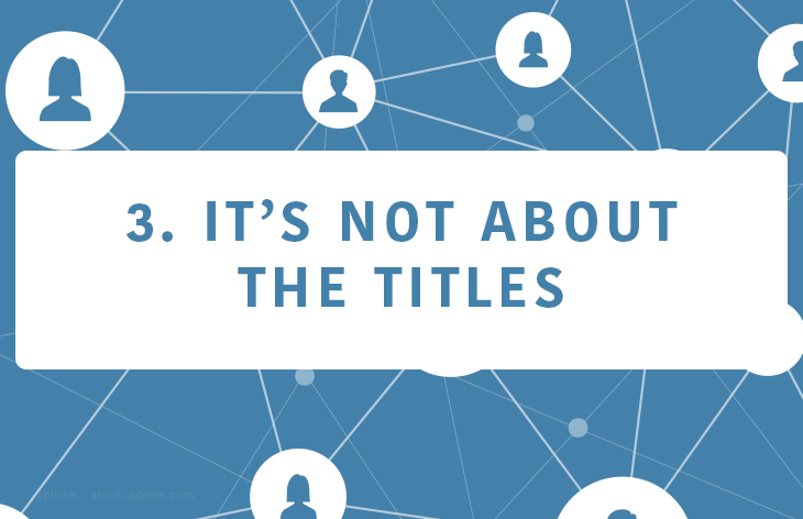 It's not about titles