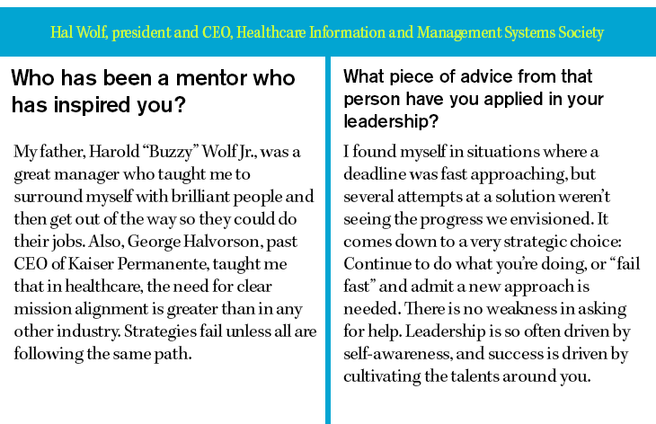 Hal Wolf, president and CEO, Healthcare Information and Management Systems Soci