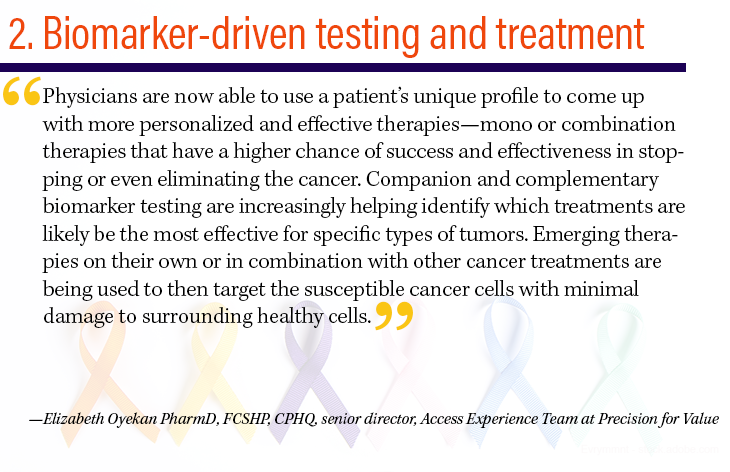 2. Biomarker-driven testing and treatment