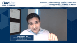 Frontline I-O Monotherapy Versus Combination Therapy for PD-L1+ Stage IV NSCLC