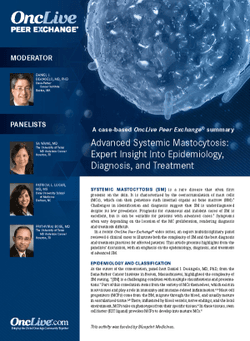 Advanced Systemic Mastocytosis: Expert Insight into Epidemiology, Diagnosis, and Treatment