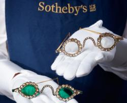 Bejeweled 17th century eyeglasses up for auction at Sotheby's London