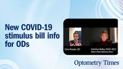 New COVID-19 stimulus bill info for ODs