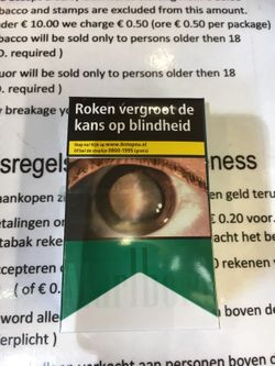 FDA lists cataracts as warning on cigarettes