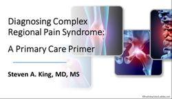 Diagnosing Complex Regional Pain Syndrome: A Primary Care Primer