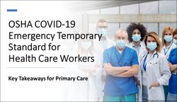 OSHA COVID-19 Emergency Temporary Standard for Health Care Workers