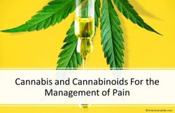 Cannabis and Cannabinoids For the Management of Pain
