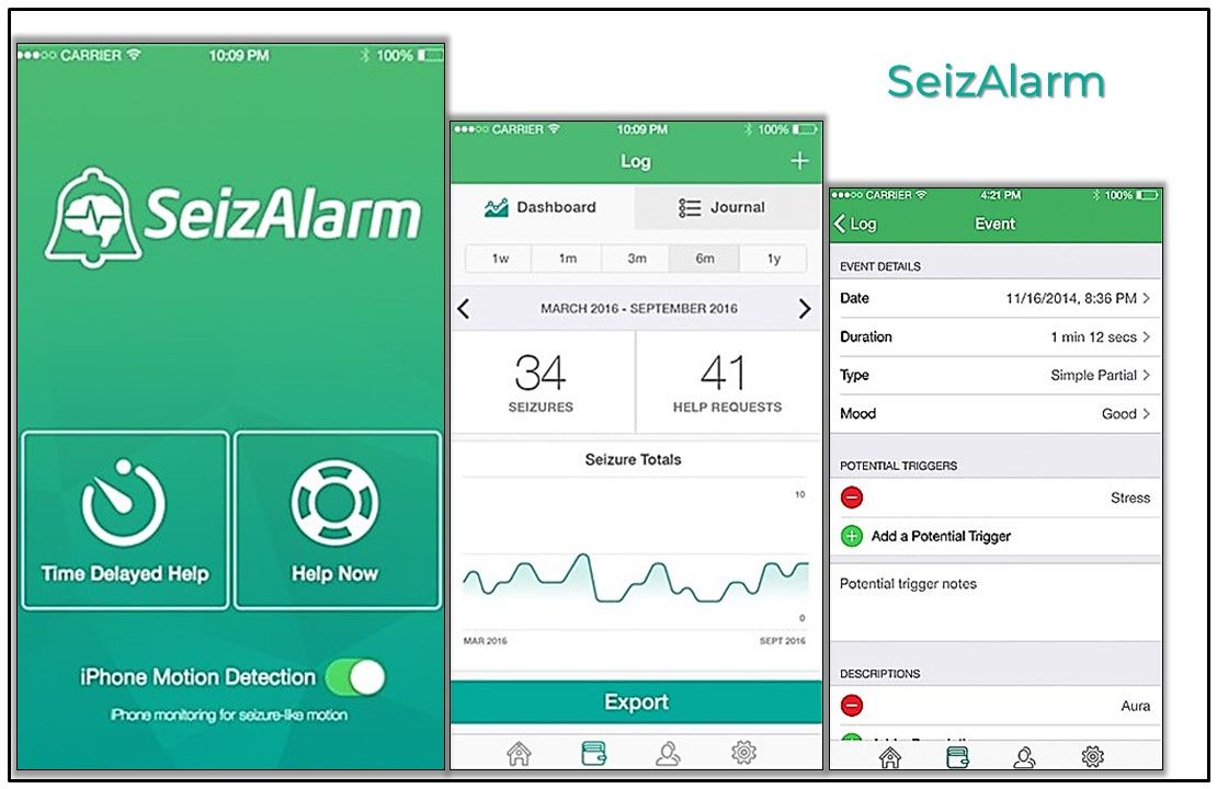 Top 5 Seizure and Epilepsy Apps for Primary Care, SeizAlarm