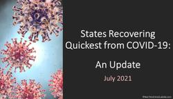 States Recovering Quickest from COVID-19: An Update