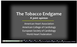 The Tobacco Endgame: 4 Major Cardiology Societies Press World Governments to Act