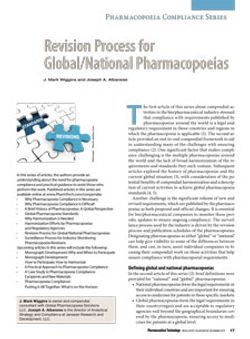 Revision Process for Global/National Pharmacopoeias (eBook)