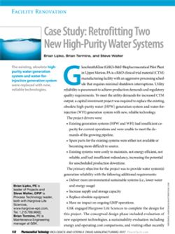 Case Study: Retrofitting Two New High-Purity Water Systems