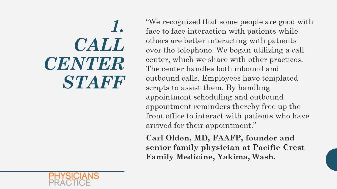 1. Call Center Staff