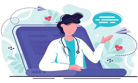 doctor laptop telemedicine concept