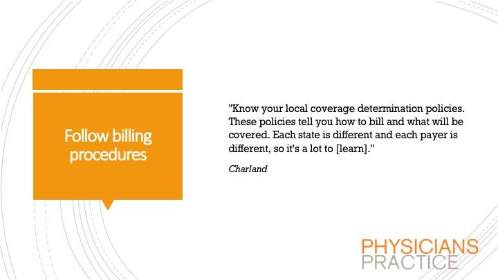 Follow billing procedures