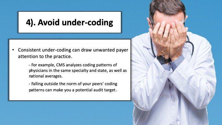 Under-coding E&M services