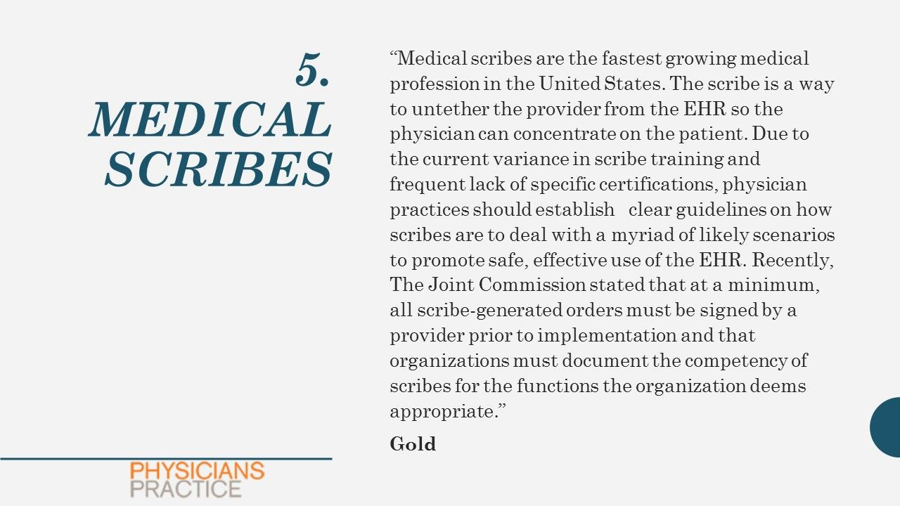 5. MEDICAL SCRIBES