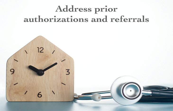 address prior authorizations and referrals