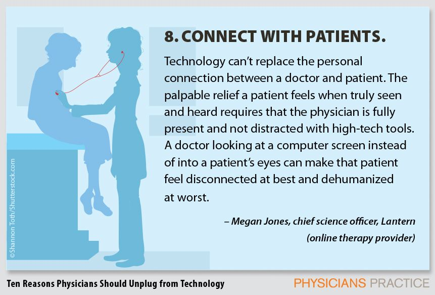 8. Connect with patients.