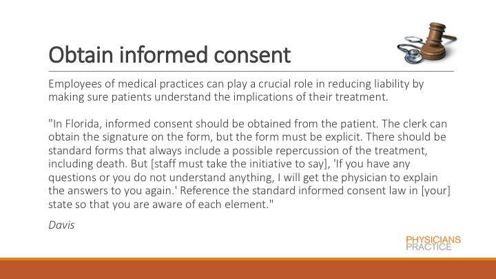 Obtain informed consent