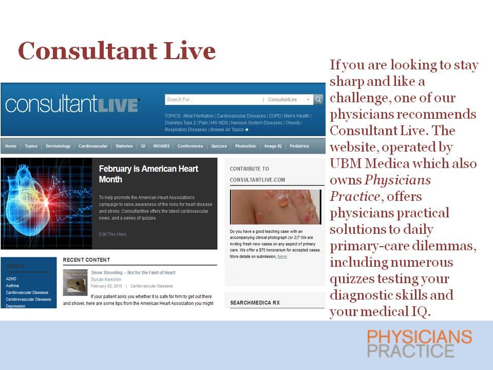Consultant Live