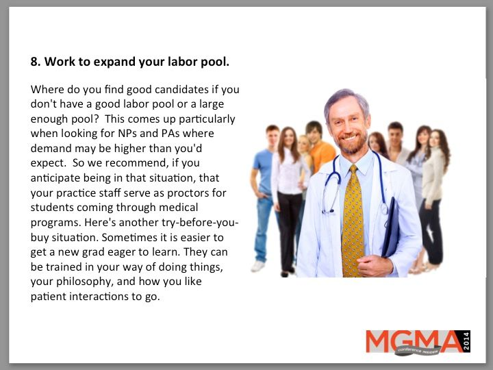 8. Work to expand your labor pool.
