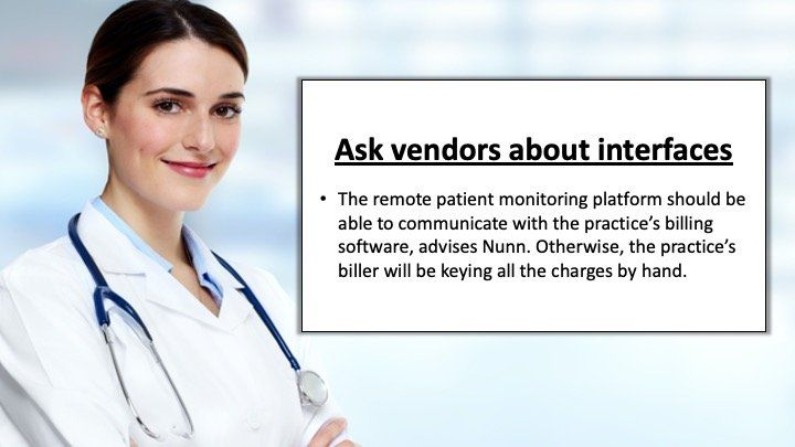 ask vendors about interfaces