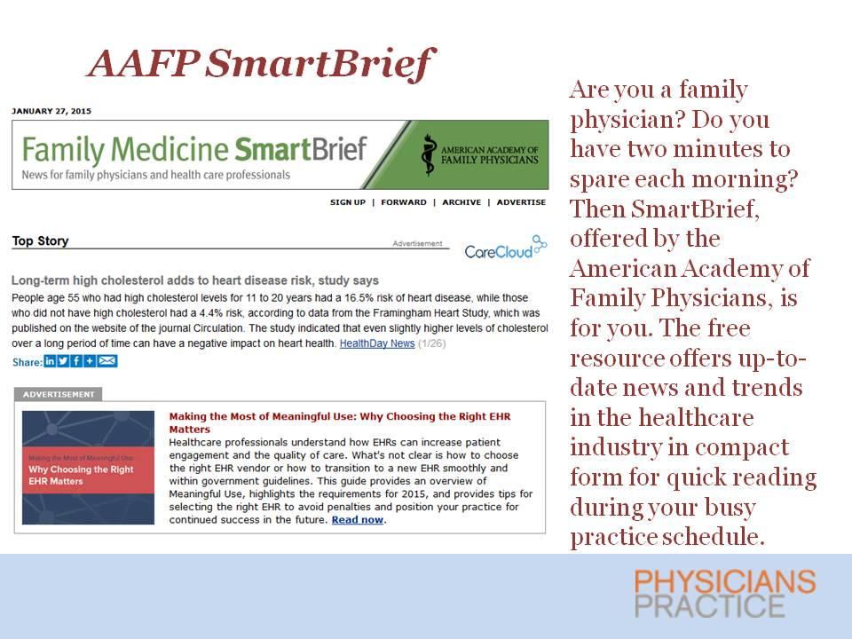 AAFP SmartBrief