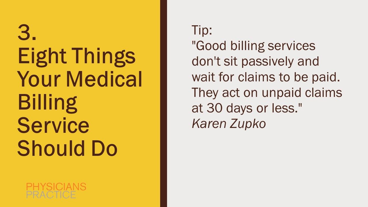 3. Eight Things Your Medical Billing Service Should Do