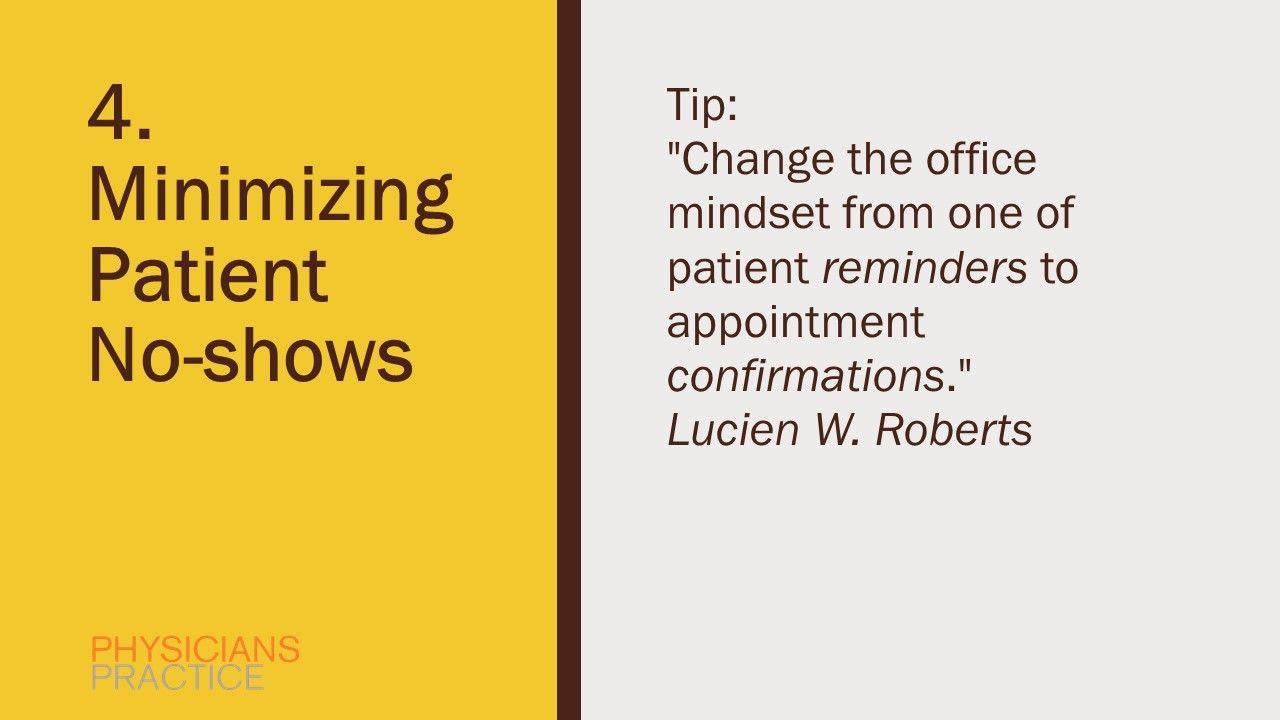 4. Minimizing Patient No-shows