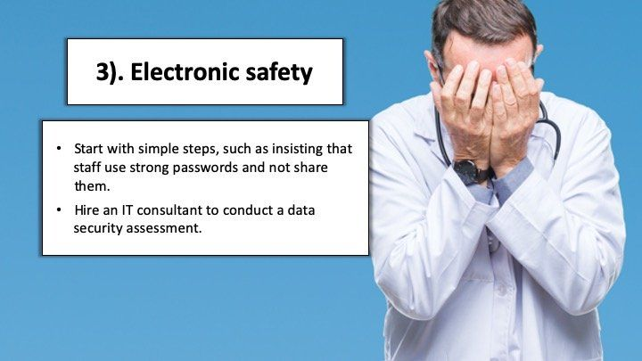 Being too casual about electronic safety