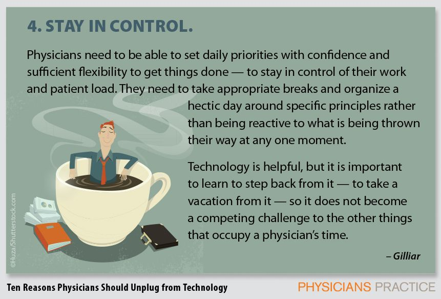 4. Stay in control.