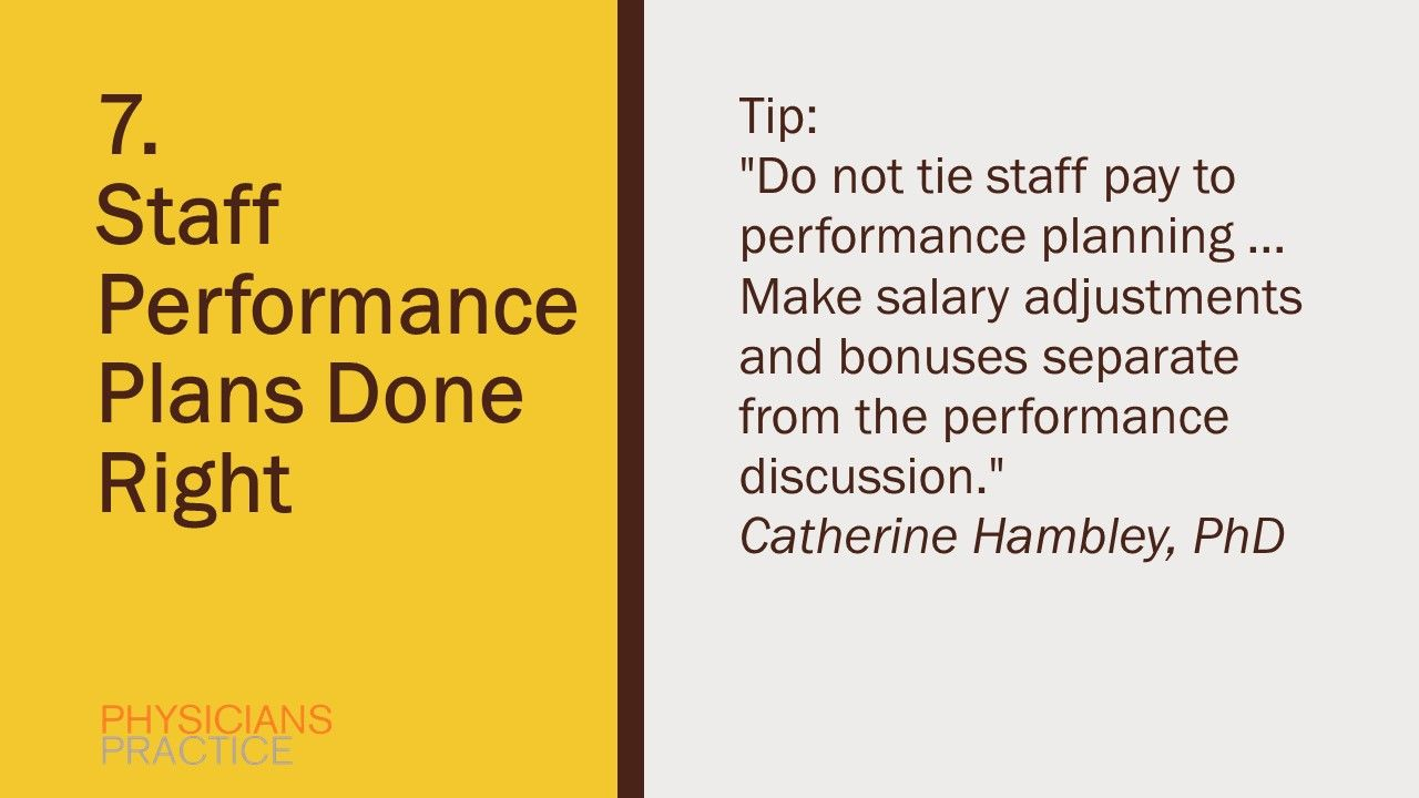 7. Staff Performance Plans Done Right