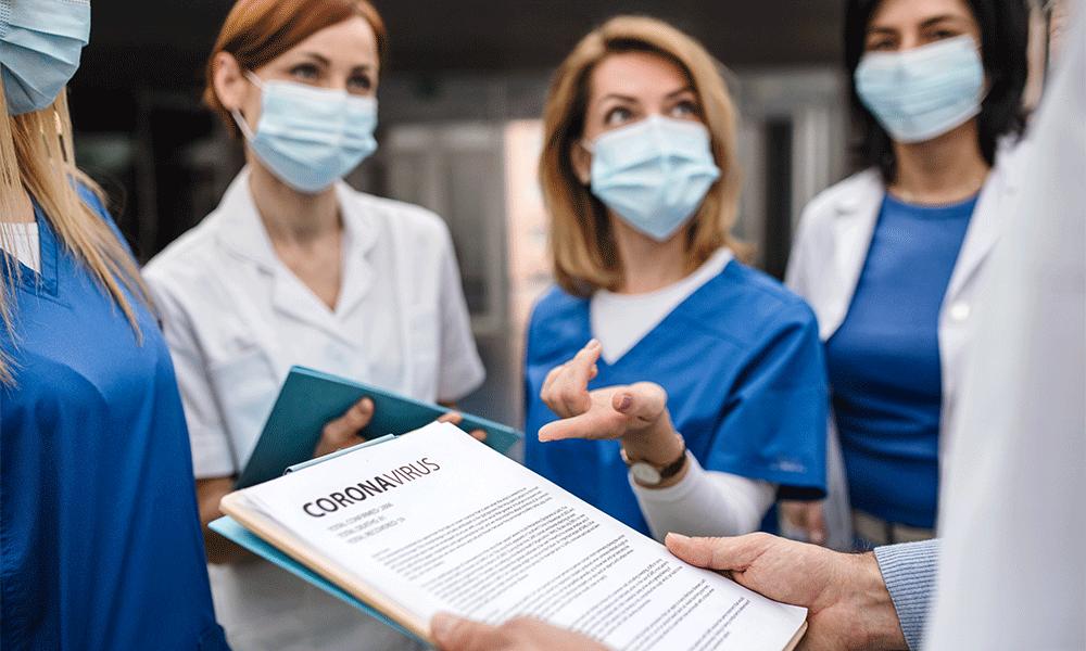 medical staff wearing masks