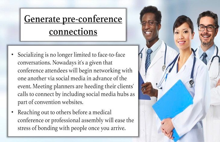 Generate pre-conference connections.