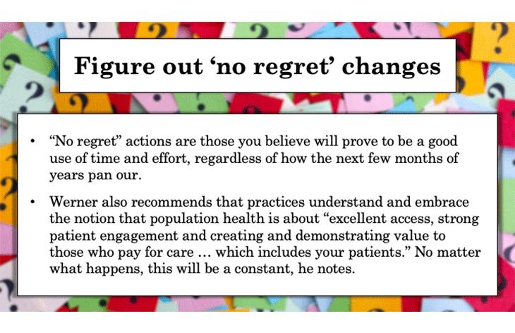 Figure out 'no regret' changes