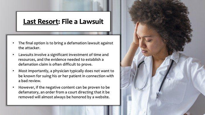 Last Resort: File a Lawsuit
