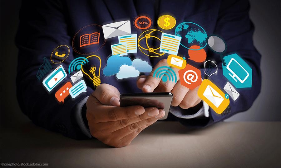 digital marketing icons social media