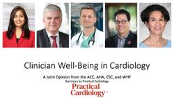 Leading Cardiology Organizations Publish Joint Opinion on Clinician Well-Being