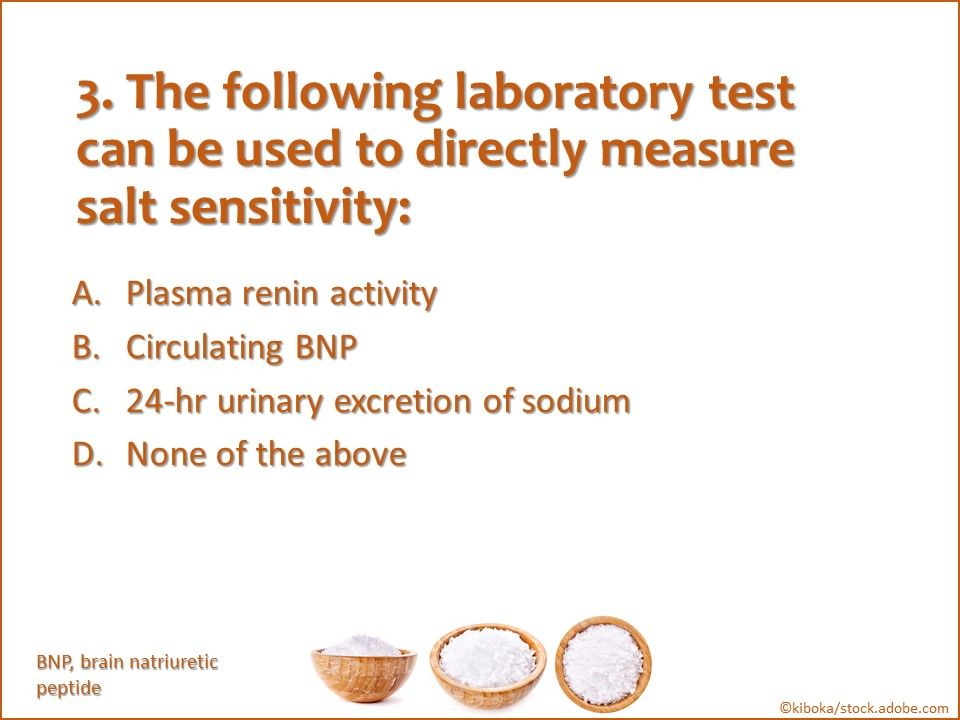 Salt senstivity of blood pressure