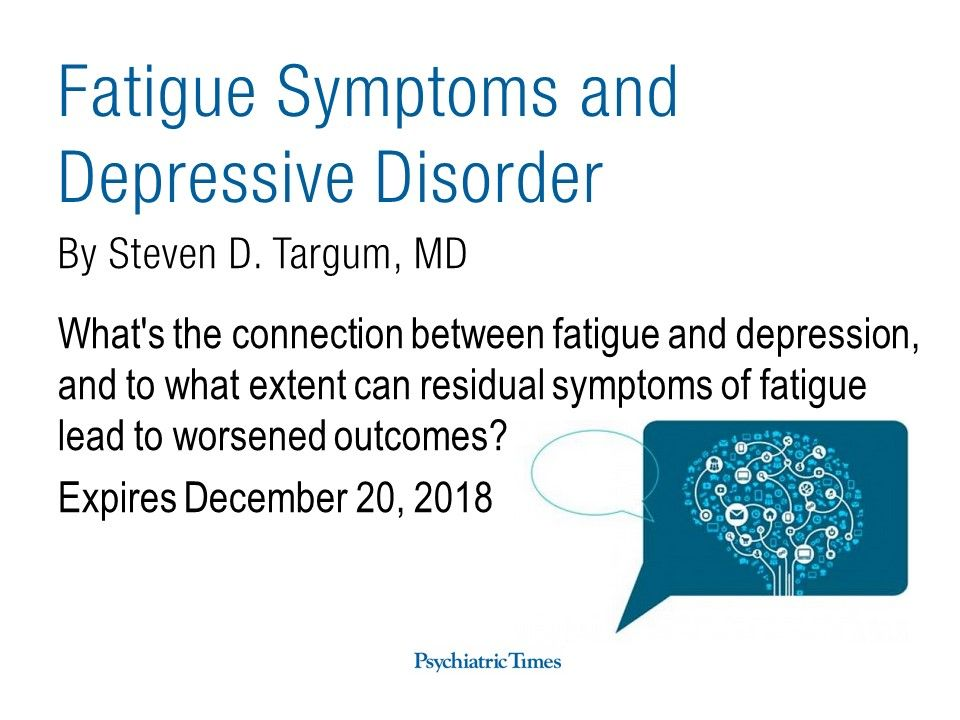 fatigue and depression