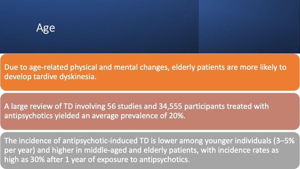 age and tardive dyskinesia
