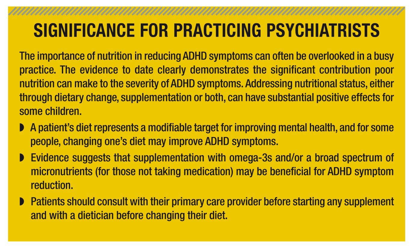 does diet have an effect on adhd