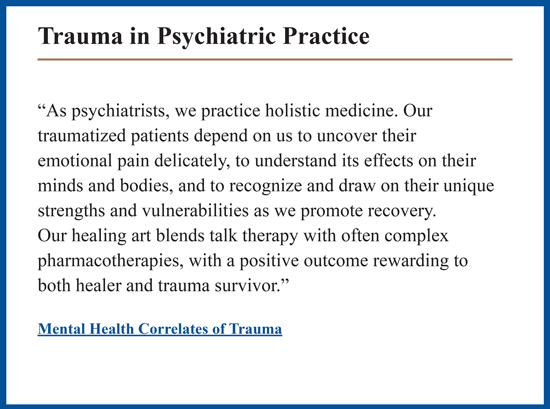 Trauma in Psychiatric Practice