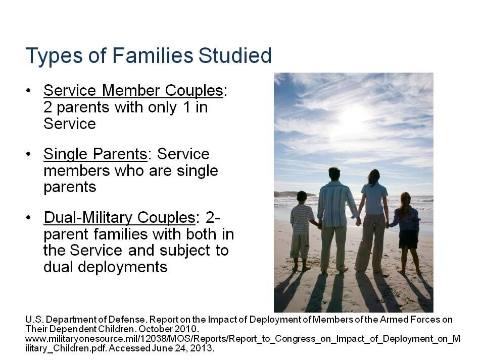Impact on Children of Deployed Military Parents
