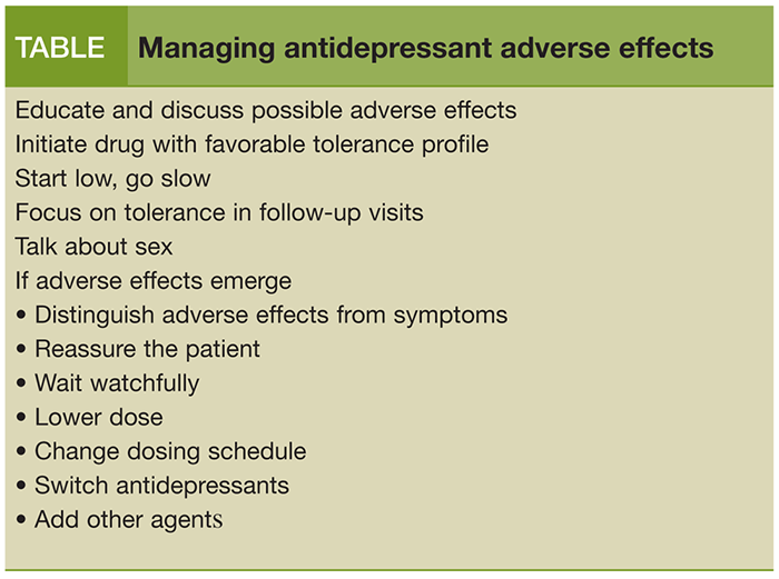 antidepressant side effect sexual disfunction